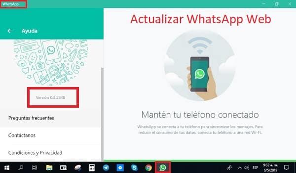 actualizar whatsapp web para pc y tablet